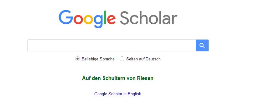Scholar Google Suchmaschine