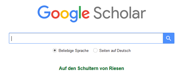 Startseite Google Scholar